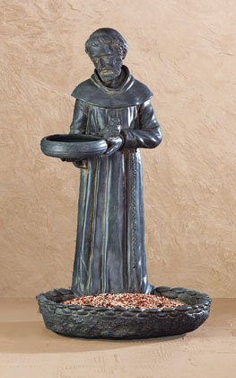St Francis Birdbath and Bird Feeder