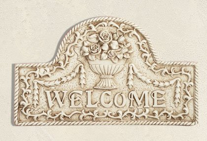 Flower Basket Welcome Plaque