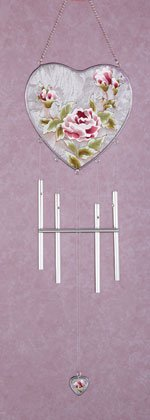 Victorian Rose Heart Windchime
