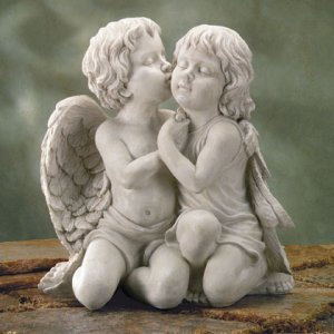 Kissing Cherubs Sculpture