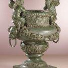 Antiqued Bronze Finish Cherub Urn