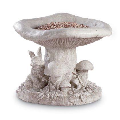 Mushroom and Bunny Birdfeeder