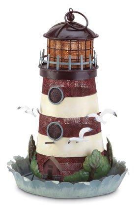 Metal Lighthouse Bird Feeder