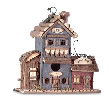 Inn and Saloon Birdhouse