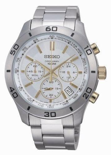 SEIKO SSB051P1,MEN'S CHRONOGRAPH,STAINLESS STEEL CASE,100M WR