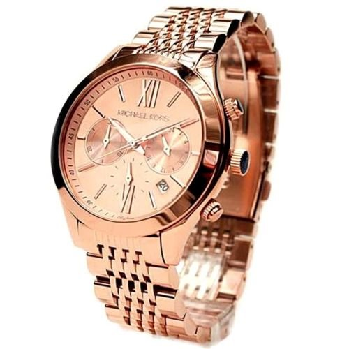 MICHAEL KORS MK5775 BROOKTON Rose Gold Tone Women's Chronograph Watch