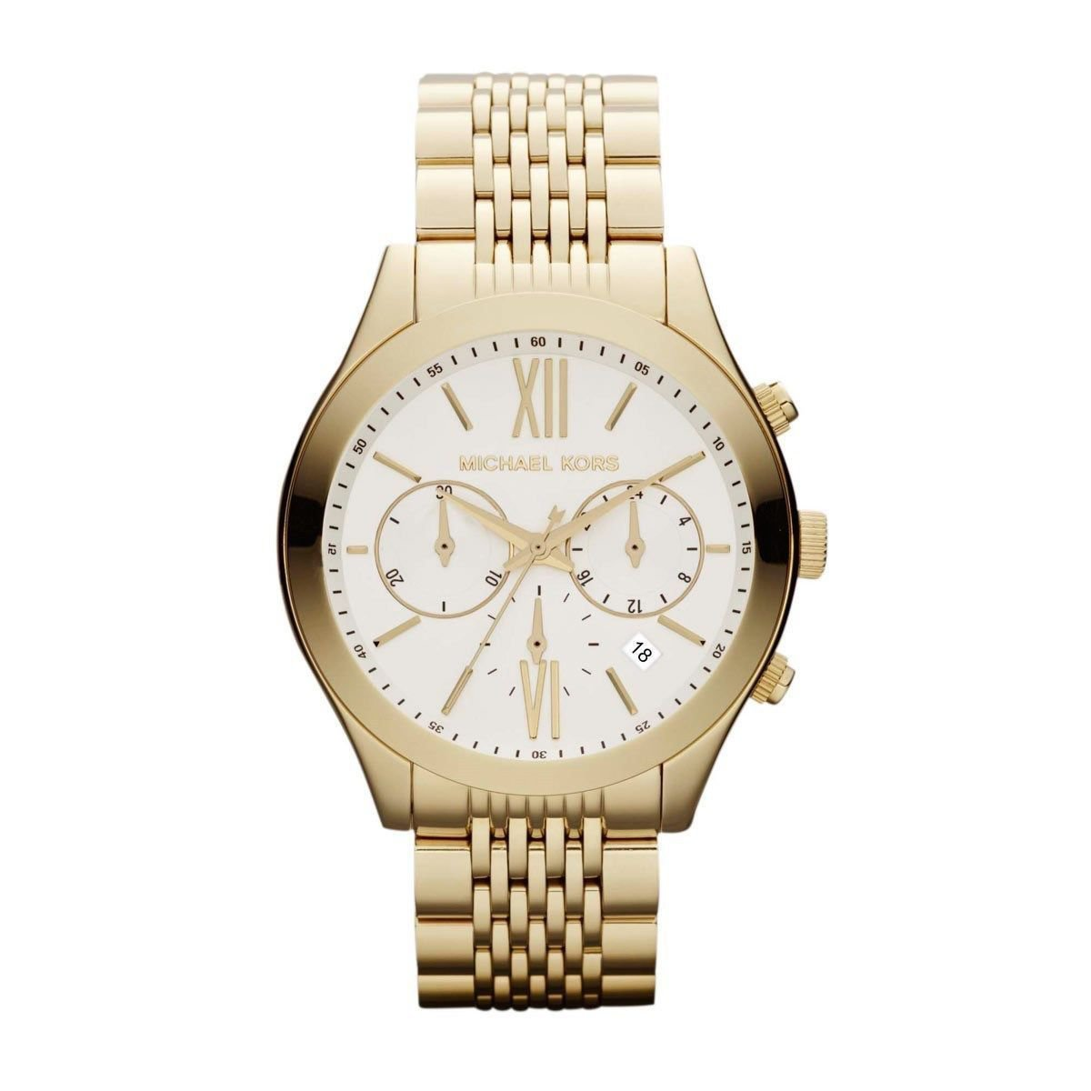 Michael Kors MK5762 Women's Brookton Gold Tone Stainless Steel Chronograph Watch