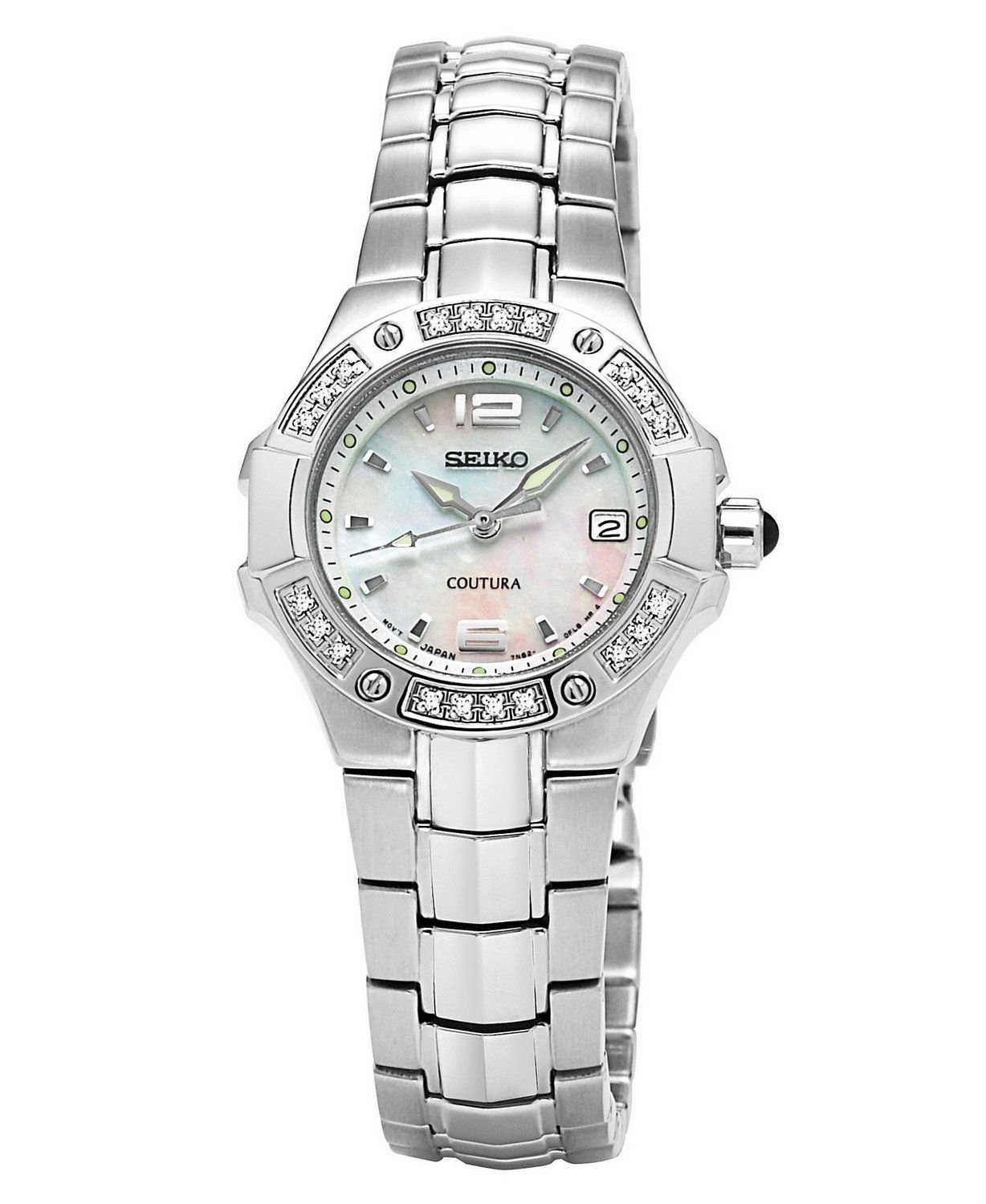 Latest Seiko Coutura Collection Mother-of-Pearl Dial Women's Watch # SXD797