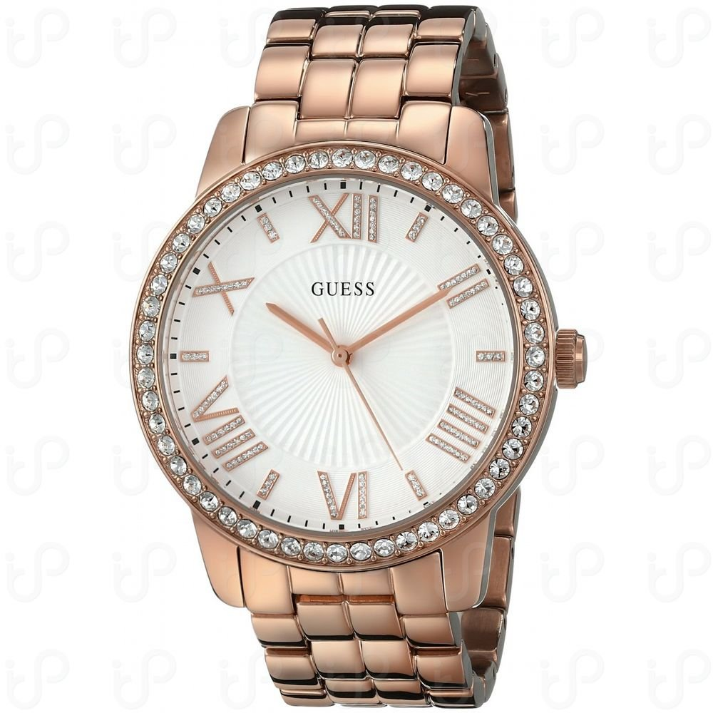 New  U0329L3 Women's Roman numerals Rose Gold-Tone Steel Bracelet Watch