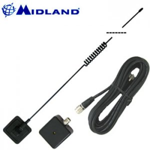 MIDLAND® GLASS MOUNT CB ANTENNA