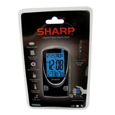 SHARP® DIGITAL TRAVEL ALARM CLOCK