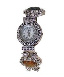 Designer Bead Jewel Bracelet Watch Sz Large