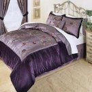 Violet Velvet Complete 8pc Luxury Comforter Bedding Ensemble Cal. King