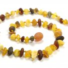 Baltic amber necklace Baby teething Unpolished amber beads