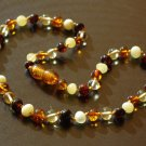 Effective Multicolor Baltic Amber Baby Teething Necklace