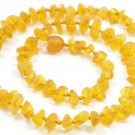 Raw Unpolished Baltic amber baby teething necklace. Honey color amber beads.