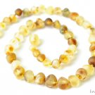 Baltic Amber Baby Teething Necklace. Unpolished Amber Beads.