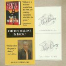 STEVE BERRY AUTHOR THE PARIS VENDETTA AUTOGRAPH