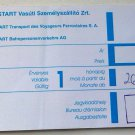 BUDAPEST ZAGRED MAV-START HUNGARIAN RAILWAY TICKET 2010 8550 HUF