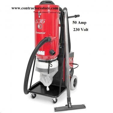 Ermator 50 Amp Dust Extractor Vacuum HEPA 230V
