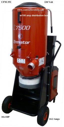 Ermator T7500 HEPA Dust Extractor w/ Distribution Box 100 AMP- 230V