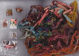 AUTUMN ELEGANCE Scrapbooking fibers and embellishments