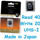 Toshiba Micro SDHC 8GB UHS-I Class 10 8G UHS I SD Flash Memory Card Hi Speed Made in Japan
