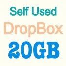 DropBox 20G Storage Backup Cloud Driver- no monthly cost + last forever
