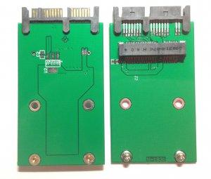 Mini PCI-E mSATA 30mm x 50mm SSD to 1.8 micro SATA convert adapter