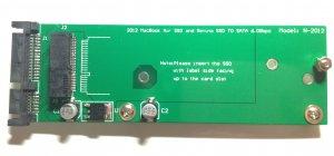 Card slot 2012 Apple MacBook Air SSD convert to SATA converter adapter 3.3V