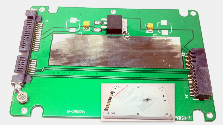 2012 MACBOOK PRO Retina SSD Convert to 2.5 SATA Adapter Converter Enclosure Case