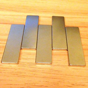 "5pcs N52 50*15*3mm 2""*3/5""*1/8"" Neodymium Permanent Magnets rare earth Craft"