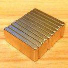 10pcs grade N52 Neodymium permanent Magnets 25mm*10mm*3mm craft