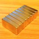 "8pcs N52 block 20mm*10mm*5mm neodymium permanent magnets craft 4/5'*2/5""*1/5"""