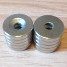 10 pcs N52 disc 15mm*3mm counterbore hole 10mm 4mm Neodymium Permanent Magnets