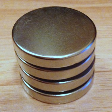 "4 pcs N52 cylinder 30x5mm Neodymium Permanent Magnets Craft 1 3/16""*3/16"""