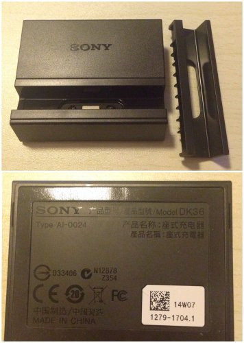 Original Genuine Sony DK36 Magnetic Charging Dock Docking for Xperia Z2
