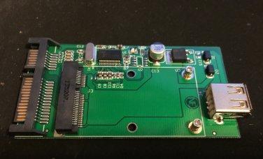 "Card slot Mini PCI-E mSATA SSD to USB 2.0 & 2.5"" 3.5"" SATA convert adapter"