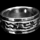 Music Man Spin Band Sterling Silver Ring