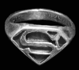Superman Sterling Silver Ring
