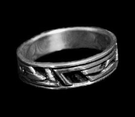 Line Design Sterling Silver Ring