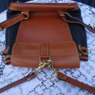 Dooney & Bourke Black/Tan Vintage Backpack