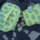 Vera Bradley Citrus Mini Zip Wallet & Matching Jewelry Case