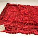 NWT Red Velvet & Silk Scarf Wrap Shawl Retail $425 One Size