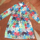 Oilily Girl's Puzzle Dress 7 / 8 128 NWOT Brushed Cotton
