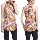 Size 4 Anthropologie Summer Affairs Buttondown Top Blouse $78 Pink Porridge