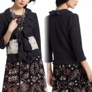 $299 Small Anthropologie Lace Attache Cardigan Cardi S Black  by LeifNotes