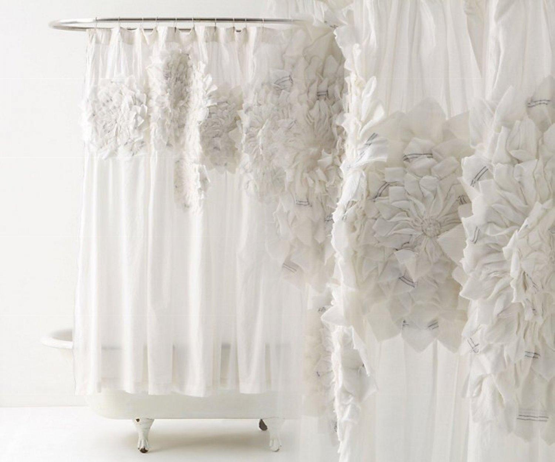 Anthropologie floral shower curtain - Anthropologie Floral Shower Curtain 7