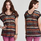 M Anthropologie Free People Chenille Rashel Mixed Stitch Top Medium