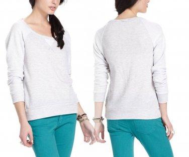 M Anthropologie Inside-Out Sweatshirt Medium Grey 6 8 Splendid Made in USA